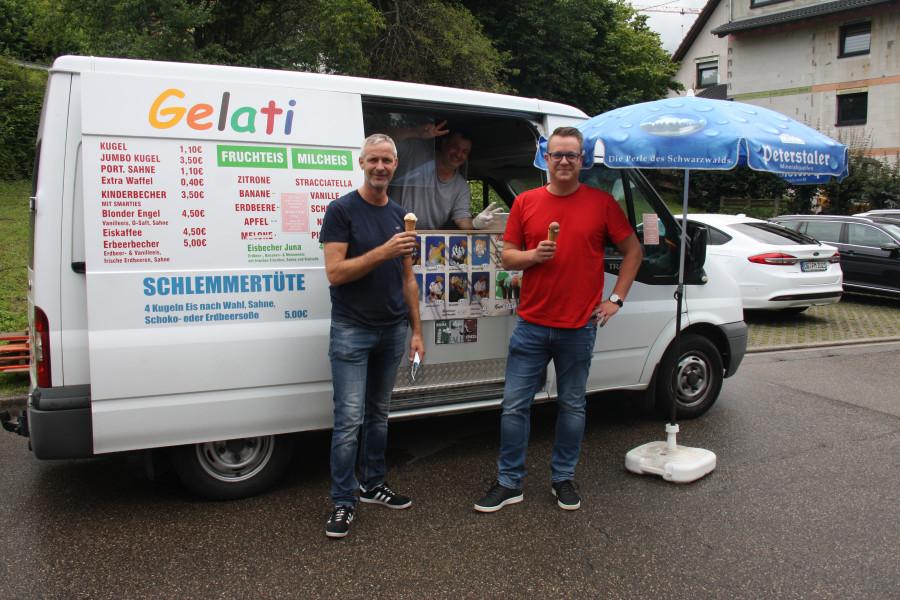 Eiswagen in Elzach