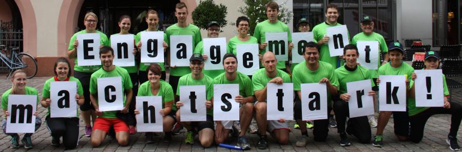 Läuferteam beim Kinzigtallauf